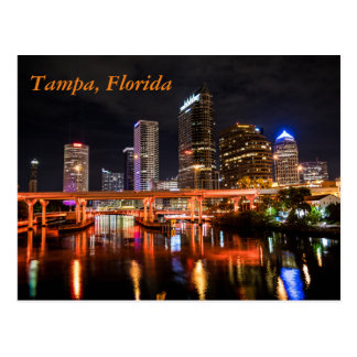 Downtown Tampa, Florida by Night Postcard