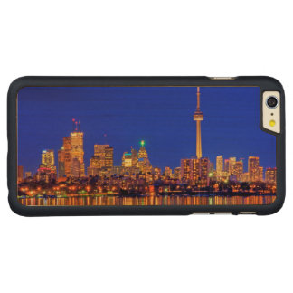 Downtown Toronto skyline at night Carved Maple iPhone 6 Plus Case