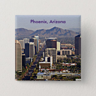 Downtown View of Phoenix, Arizona 15 Cm Square Badge