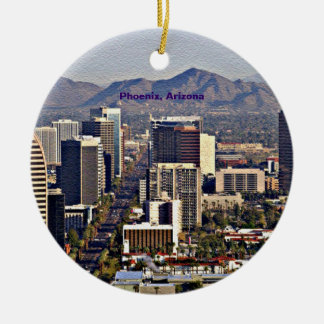 Downtown View of Phoenix, Arizona Christmas Ornament