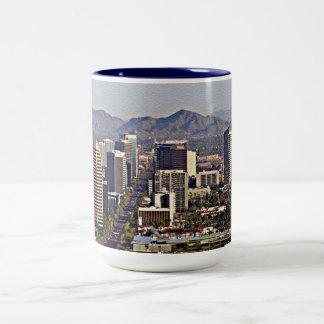 Downtown View of Phoenix, Arizona Two-Tone Mug