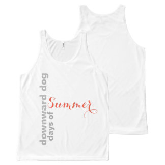 Downward Dog Days of Summer All-Over Print Tank Top