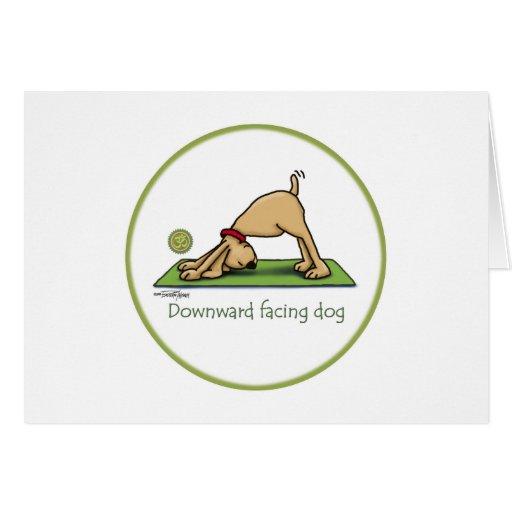 Downward Facing Dog Cartoon Greeting Cards