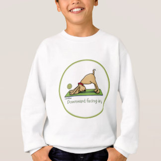Downward Facing Dog Cartoon Sweatshirt