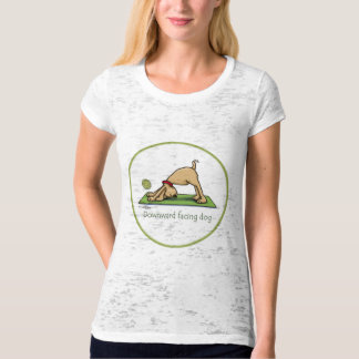Downward Facing Dog Cartoon T-Shirt