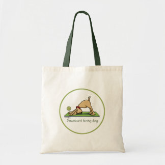 Downward Facing Dog Cartoon Tote Bag