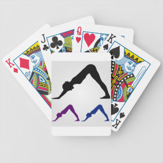 downward facing dog yoga pose poker deck