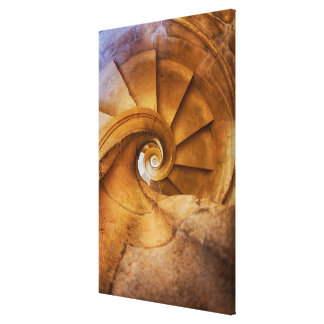 Downward spirl staircase, Portugal Canvas Print