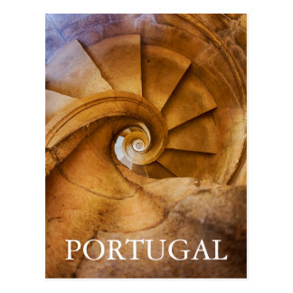 Downward spirl staircase, Portugal Postcard