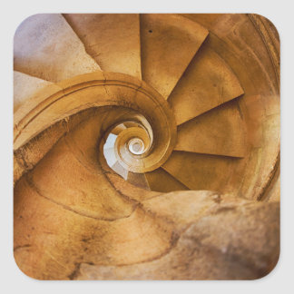 Downward spirl staircase, Portugal Square Sticker