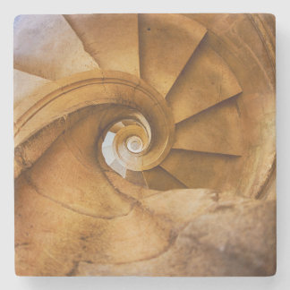 Downward spirl staircase, Portugal Stone Coaster