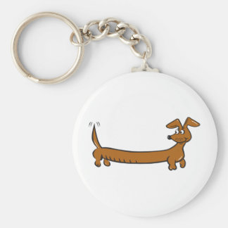 DOXIE-Cartoon Basic Round Button Key Ring