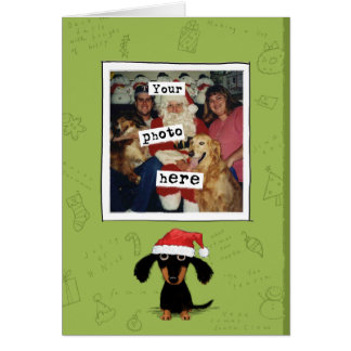 Doxie Clause Photo Template Holiday