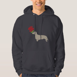 Doxie Delivers 12 Red Roses - Valentines Day!!!! Hoodie
