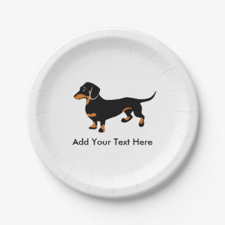 Doxie Dog Love - Cute Little Dachshund Paper Plate