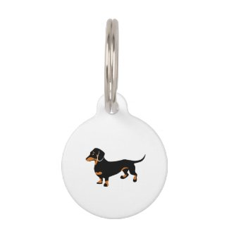 Little Dachshund Name Tag
