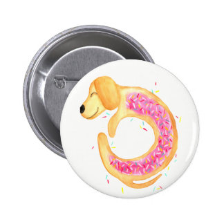 Doxie Donut by Merrin Dorothy 6 Cm Round Badge