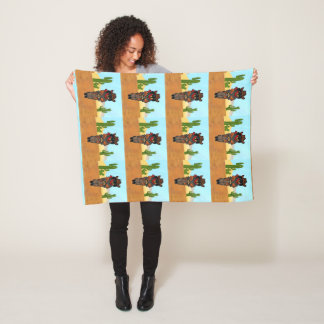 Doxie Gunslinger Fleece Blanket
