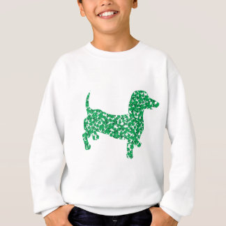 Doxie in Shamrocks Sweatshirt