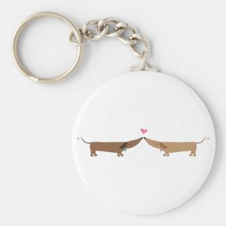 doxie love basic round button key ring