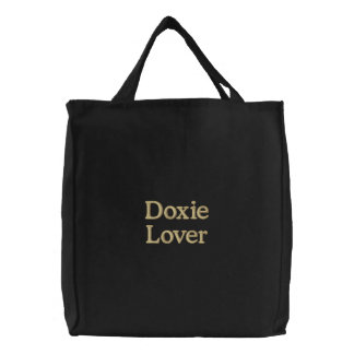 """Doxie Lover"" Embroidered Bag"
