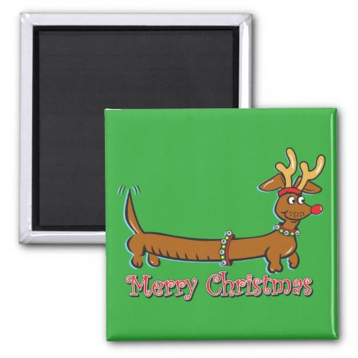 Doxie-Merry-Christmas Magnet