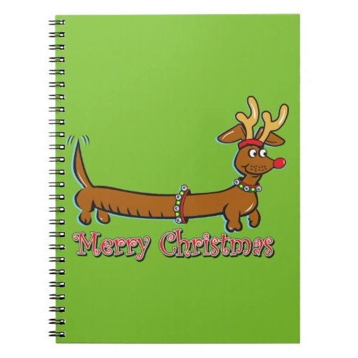 Doxie-Merry-Christmas Notebook