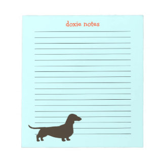 Doxie Notes Dachshund Silhouette