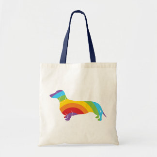 Doxie Rainbow Connection Tote Bags