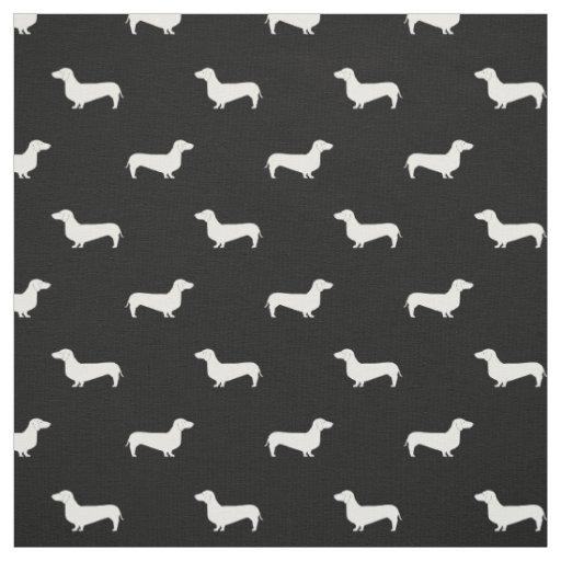Doxie Silhouette Dog fabric - dachshund fabric