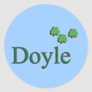 Doyle Family Round Sticker