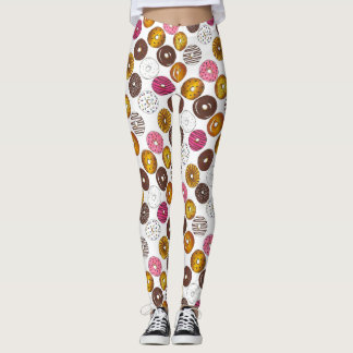 Dozen Donuts Donut Doughnut Breakfast Leggings
