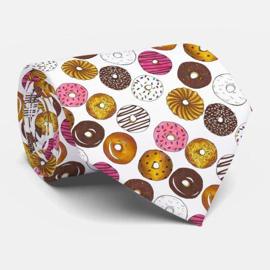 Dozen Doughnuts Doughnut Doughnut Novelty Food Tie
