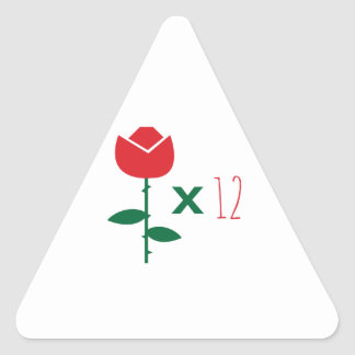 Dozen Reasons Triangle Sticker