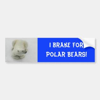 Dozing Polar Bear Bumper Sticker