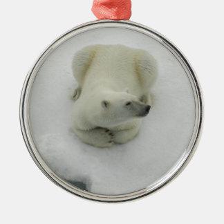 Dozing Polar Bear Christmas Ornament