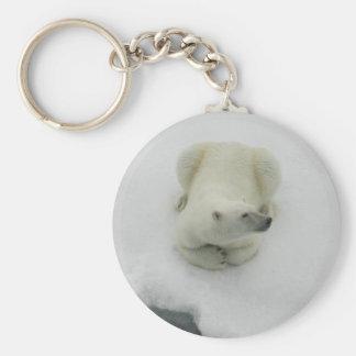 Dozing Polar Bear Key Ring