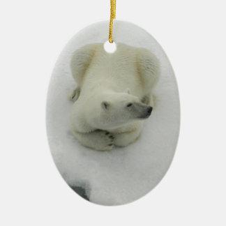Dozing Polar Bear Ornaments