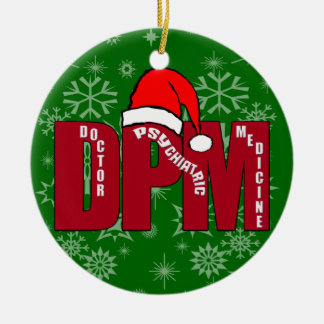 DPM SANTA CHRISTMAS ORNAMENT DOCTOR PSYCHIATRIC