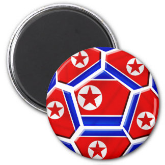 DPR North Korea flag soccer ball lovers gifts 6 Cm Round Magnet