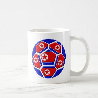 DPR North Korea flag soccer ball lovers gifts Basic White Mug