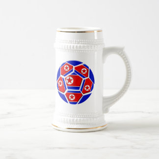 DPR North Korea flag soccer ball lovers gifts Beer Steins