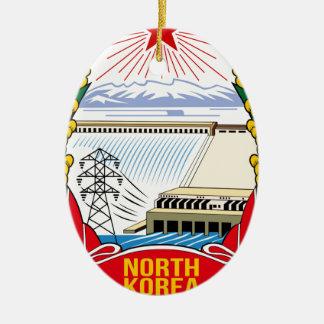 DPRK (North Korea) Emblem Ceramic Oval Decoration