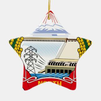 DPRK (North Korea) Emblem Ceramic Star Decoration