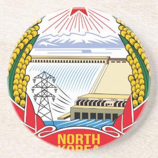 DPRK (North Korea) Emblem Drink Coasters