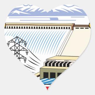 DPRK (North Korea) Emblem Heart Sticker