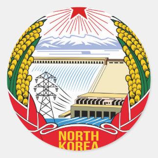 DPRK (North Korea) Emblem Round Sticker