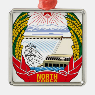 DPRK (North Korea) Emblem Silver-Colored Square Decoration