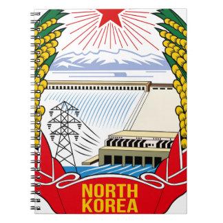 DPRK (North Korea) Emblem Spiral Notebook