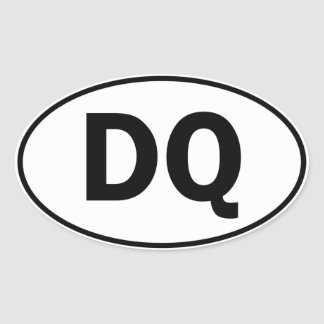 DQ Oval Identity Sign Sticker